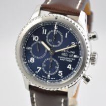 Breitling Steel Automatic Blue Arabic numerals 43mm new Navitimer 8