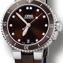 Oris Aquis Date Steel 36mm Brown