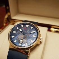 Ulysse Nardin Yellow gold Automatic Blue 40,5mm pre-owned