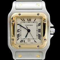 Cartier Santos Galbée Gold/Steel 29mm Champagne Roman numerals