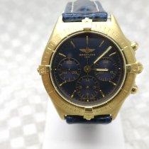 Breitling Gelbgold Handaufzug Blau Keine Ziffern 36mm gebraucht Callisto