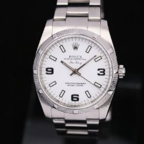 Rolex Air King Stål 34mm Vit Arabiska