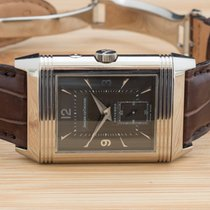 Jaeger-LeCoultre White gold Manual winding Black 42mm pre-owned Reverso Duoface