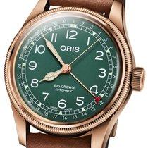 Oris Big Crown Pointer Date Steel 40mm Green Arabic numerals
