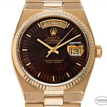 Rolex Day-Date Oysterquartz Yellow gold 36mm Brown