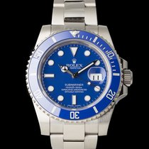 Rolex Weißgold Automatik Blau 40mm gebraucht Submariner Date