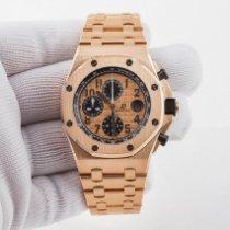 Audemars Piguet Κόκκινο χρυσό Αυτόματη μεταχειρισμένο Royal Oak Offshore Chronograph