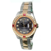 Rolex Datejust Lady's Steel & 18K Yellow Gold New Heavy Style...
