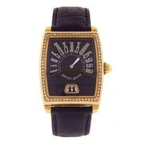 Gérald Genta Yellow gold Automatic Black 32mm pre-owned