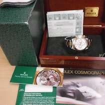 Rolex Daytona 16523 18k/ss Vintage Cosmograph With White Dial....