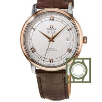 Omega De Ville Prestige Co-Axial 39.5 mm Steel/Rose Gold...