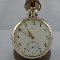 Omega Horloge tweedehands Zilver 52mm Arabisch Handopwind Alleen het horloge