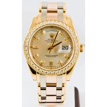 Rolex Day-Date Yellow gold 39mm Silver