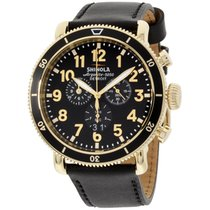 Shinola The Runwell Sport Black Dial Black Leather Strap Men's...