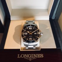 Longines 41mm Automatic 2015 pre-owned HydroConquest Black