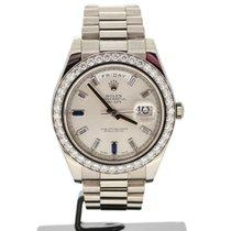 Rolex Day-Date II White gold 41mm No numerals