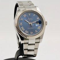 Rolex Datejust II Steel 41mm Blue Roman numerals