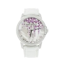 Harry Winston Midnight pre-owned 36mm White Crocodile skin