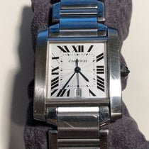 Cartier Tank Française Steel 28mm White Roman numerals United States of America, New York, New Rochelle
