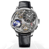Greubel Forsey White gold Manual winding Silver Arabic numerals 43.5mm pre-owned GMT