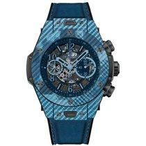 Hublot Big Bang Unico tweedehands 45mm Blauw Chronograaf Datum Textiel