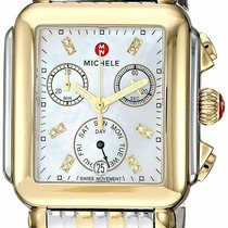 Michele Deco Steel 33mm Mother of pearl
