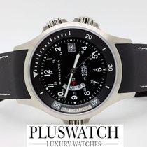 해밀턴 (Hamilton) Uhr Khaki Navy GMT Black Dial D12/22.5