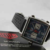 TAG Heuer Monaco Calibre 11 new 2019 Automatic Chronograph Watch with original box and original papers CAW211P.FC6356