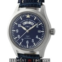 IWC Pilot Collection UTC TZC Platinum 39mm Blue Dial Limited...