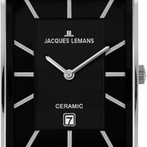 Jacques Lemans York 1-1593A Armbanduhr Mit Keramikelementen