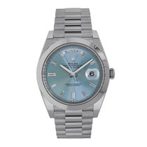 Rolex Day-Date 40 Platinum 40mm Blue No numerals United States of America, New York, New York