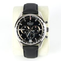 Zenith El Primero 36'000 VpH pre-owned 42mm Black Chronograph Date Tachymeter Leather