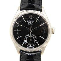 Rolex Cellini Dual Time White gold 39mm Black