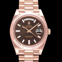 Rolex Day-Date 40 Oro rosado 40mm Marrón