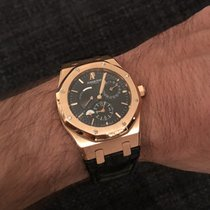 Audemars Piguet Royal Oak Dual Time tweedehands 39mm Roségoud