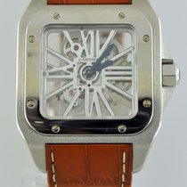 bb2d437e2ce Cartier 54.9mm Corda manual 2014 usado Santos 100 Transparente