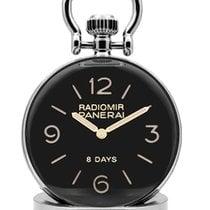 Panerai Table Clock Steel 44mm Black