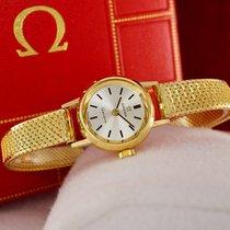 Omega Geneve Ladies Gold Watch 18K Bracelet 18K 1969
