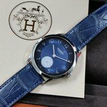 Hermès Slim d'Hermès Stahl 40mm Blau Arabisch