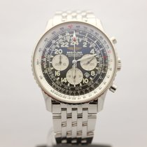 Breitling Navitimer Cosmonaute pre-owned 41.5mm Black Chronograph Date Steel