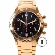 Breguet Type XX - XXI - XXII pre-owned 39.5mm Brown Chronograph Flyback Date Pink gold