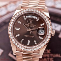 Rolex Day-Date II Red gold 40mm Brown No numerals