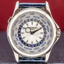 Patek Philippe World Time White gold 39mm Silver