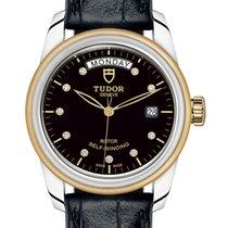 Tudor Glamour Date-Day Gold/Steel 39mm Black