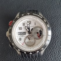Hamilton Khaki Aviation tweedehands 45mm Wit Chronograaf Datum Dagaanduiding Tachymeter Rubber