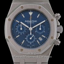 Audemars Piguet Royal Oak Chronograph occasion 39mm Bleu Chronographe Date Acier