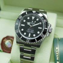 Rolex 114060 Black Submariner No Date Ceramic Bezel
