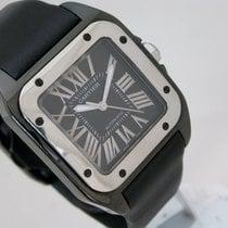 Cartier Ceramic Automatic Black Roman numerals 33mm pre-owned Santos 100