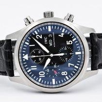 IWC Pilot Chronograph Flieger Black Dial Full Set