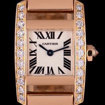 Cartier Tank (submodel) Rose gold 20mm Silver Roman numerals